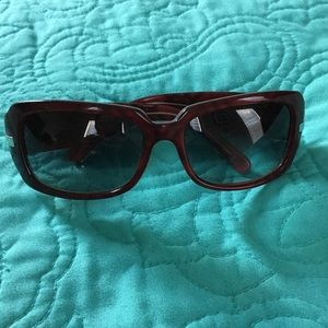 8d0cb1e36382 Burberry Accessories - Burberry Maroon Plaid Sunglasses (B 4015)